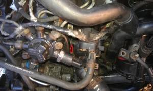 A motor eleje