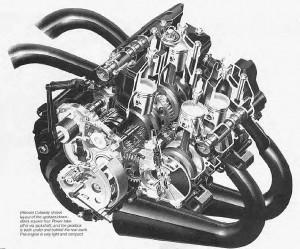 RG500 motor-metszet