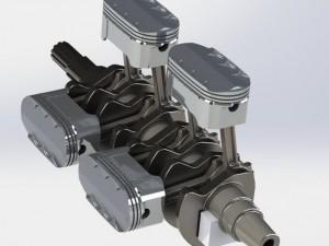 Ováldugattyús motor
